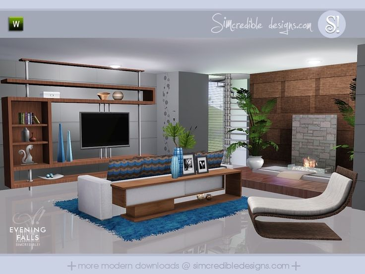 Beauty Comfort And Entertainment At The Same Room By SIMcredibledesigns Found
