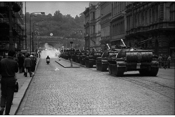 In August 1968 the Magnum photographer Josef Koudelka (born 1938) documented the Soviet invasion of Czechoslovakia's capital.