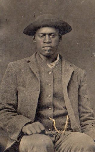 African-American-Man-Intense-Expression-Tintype-Black-Americana