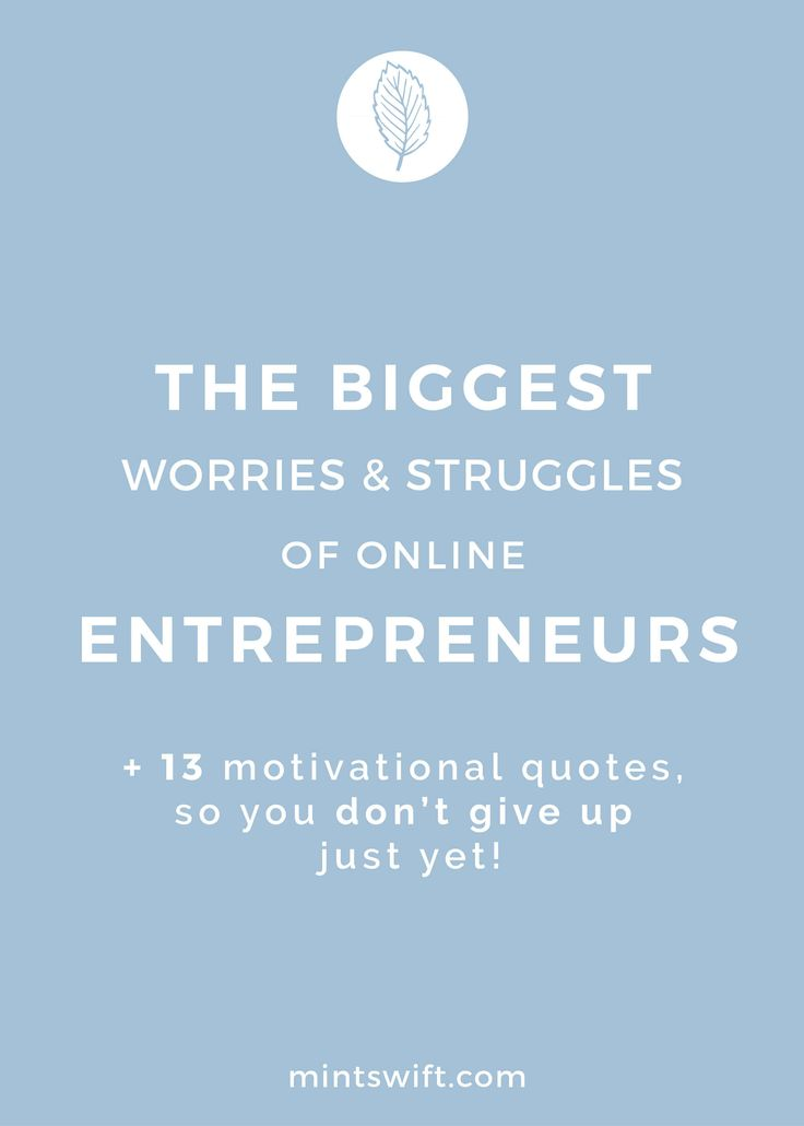 The biggest worries and struggles of online entrepreneurs & 13+ motivational…