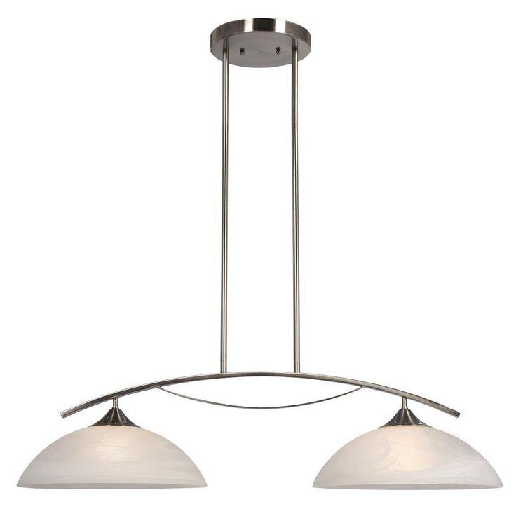 filament design negron 2light brushed nickel ceiling island light