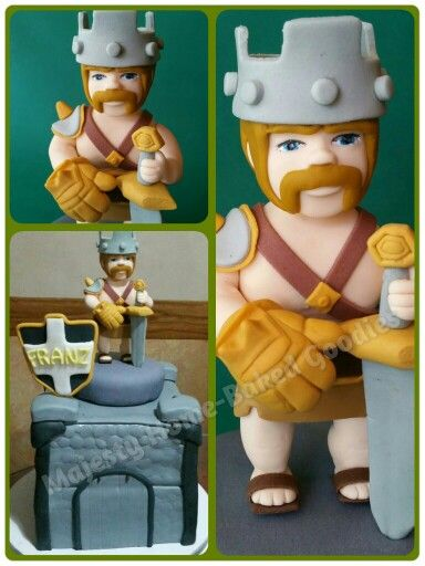 ... Fondant Cake on Pinterest  Clash of clans, Cakes and Cupcake toppers