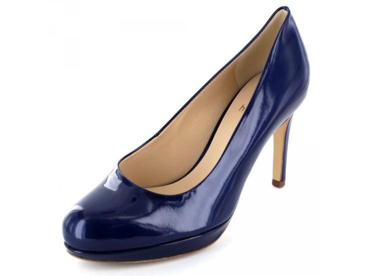 Högl - Eleganter Damen Lackpumps in blau