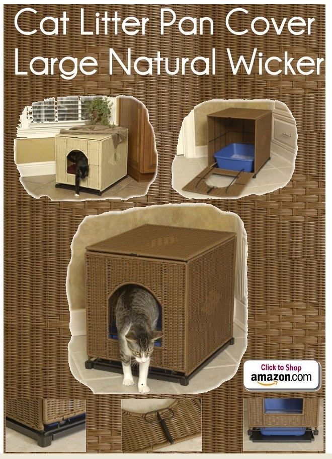 Wicker Cat Litter Pan Cover Large Natural Wicker by Mr Herzher's - Wicker Cat Litter Pan Cover In the decidedly unglamorous world of kitty litter cover-up, here shines one bright light. The great-looking Mr. Herzher'sTM Cat Litter Pan Cover is made of a tough woven resin that won't absorb odors or moisture, making the place where Socks does his business more attractive - Price: $105.37 -  #catlitterboxfurniture #cat #litter #box #furniture…