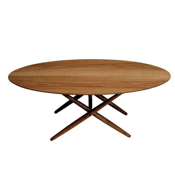 Ovalette table, walnut, by Artek. Design by Ilmari Tapiovaara.