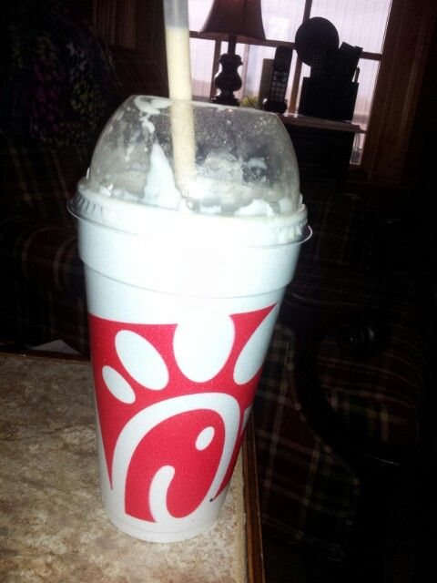Best peach shake from chick- a-fla