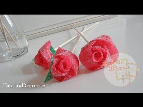 Consejos para mesas dulces: Tarta de golosinas verde y rosa para candy bar | Patrones y Handmade