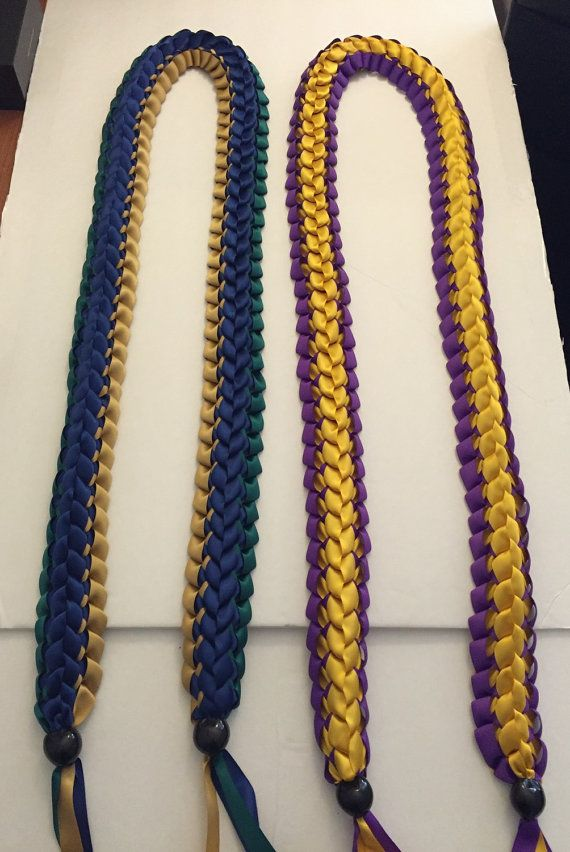 Handmade Double Braided Ribbon Lei Graduation by Homemadegoods819