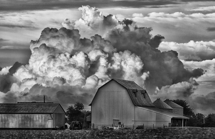 farm storm by Bruce Bishop on 500px - Looks like the barns where I grew up in Kansas