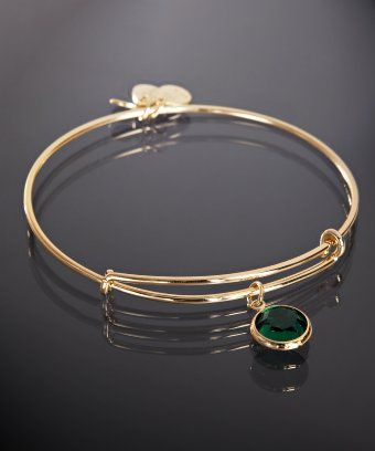 Emerald Alex and Ani bracelet--- Love the birthstone bracelets