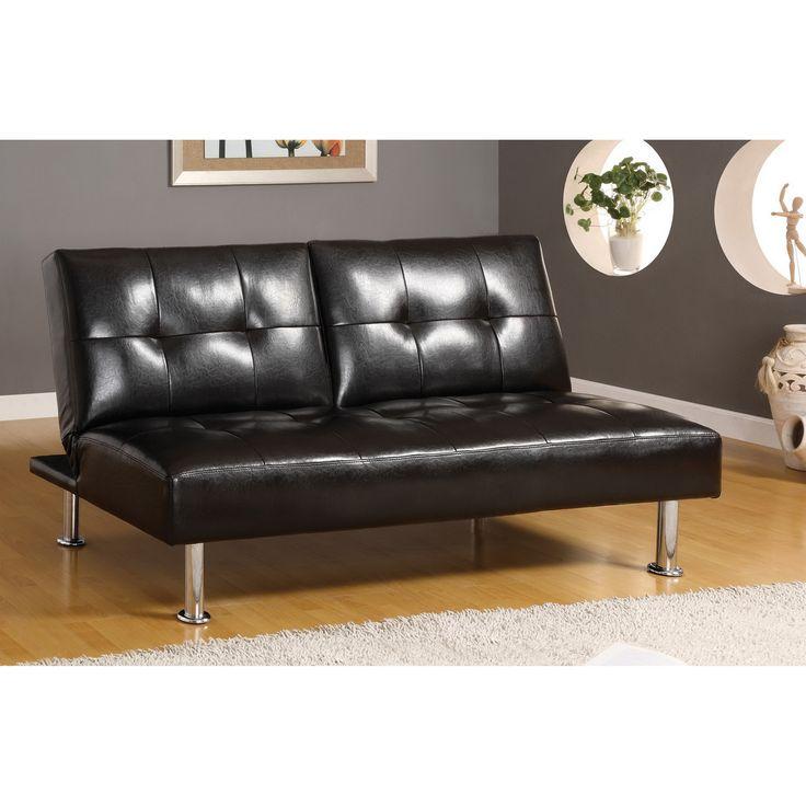 furniture u0026 design bedroom furniture futon beds coronado stylish and comfortable style design black finish leatherette seat futon sofa with chrome
