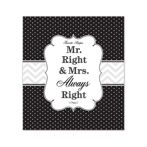 Mr & Mrs Right Recipe Binder by Brownlow Gifts