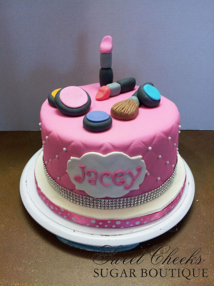 A makeup themed cake for Jacey. Happy Birthday! Sweet ...