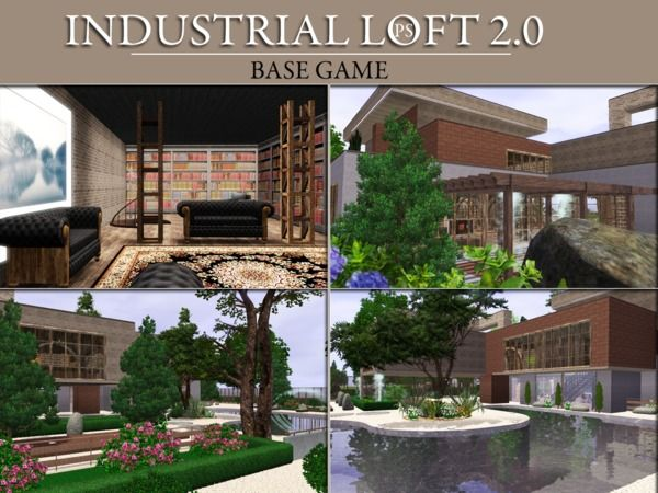Lana CC Finds - Industrial Loft 2.0 by Pralinesims