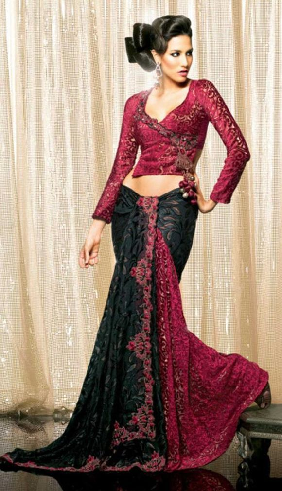 Latest Long Full Sleeves Saree Blouse Designs, Blouse Design Ideas