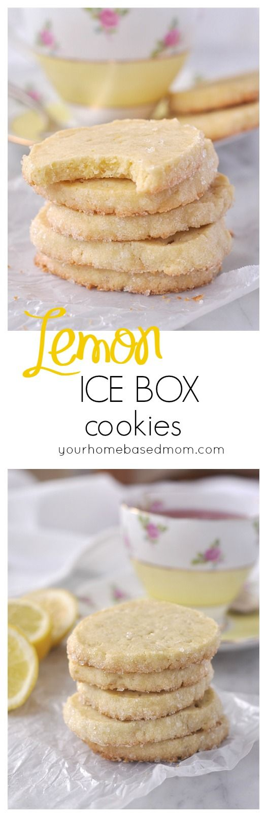 Lemon Ice Box Cookies. Great summer time dessert recipe.