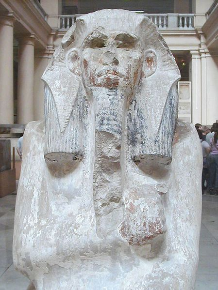 Djoser,  1st Pharaoh 3rd Dynasty, reigned ca. 2667-2648,      Museum of Egyptian Antiquities, Cairo    (Photo: Jon Bodsworth, Wikipedia)