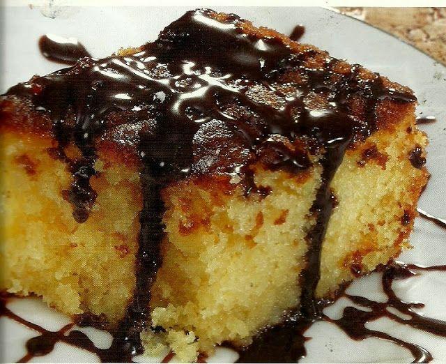 Ραβανί παραδοσιακό με γλάσο σοκολάτας !! ~ ΜΑΓΕΙΡΙΚΗ ΚΑΙ ΣΥΝΤΑΓΕΣ