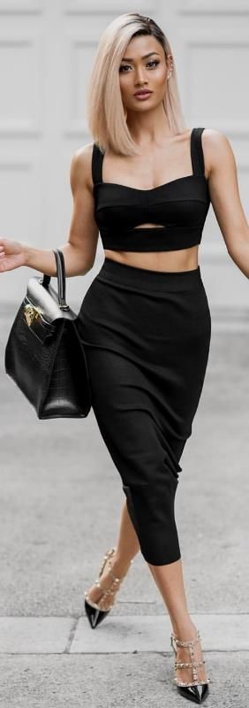 Back to classic black ?? Top & skirt from Hot Miami Styles / Fashion By Micah Gianneli