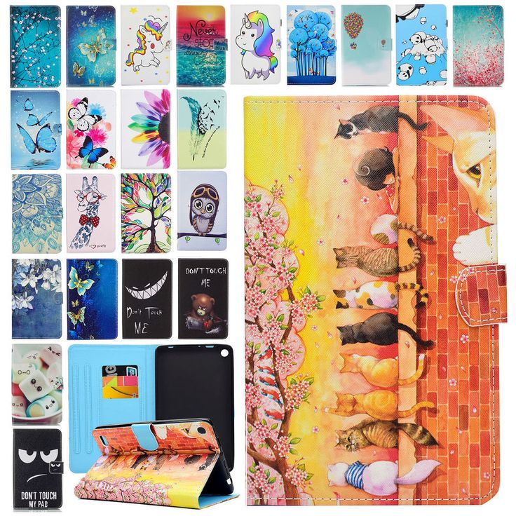 PU Leather Folio Case Cover Wallet Stand for Amazon Kindle Fire 7 5th Gen 2015 #UnbrandedGeneric