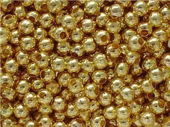 20.000st Guldfärgade Pärlor 3,2mm- Nickelfria- Modell 8041