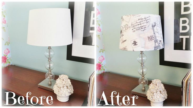 New lampshade made from French-inspired fabric