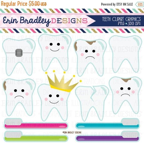 50% OFF SALE Dentist Clipart Tooth Teeth Clip Art Graphics with Cavities Braces Toothbrushes Instant Download Commercial Use by ErinBradleyDesigns on Etsy https://www.etsy.com/listing/240680535/50-off-sale-dentist-clipart-tooth-teeth