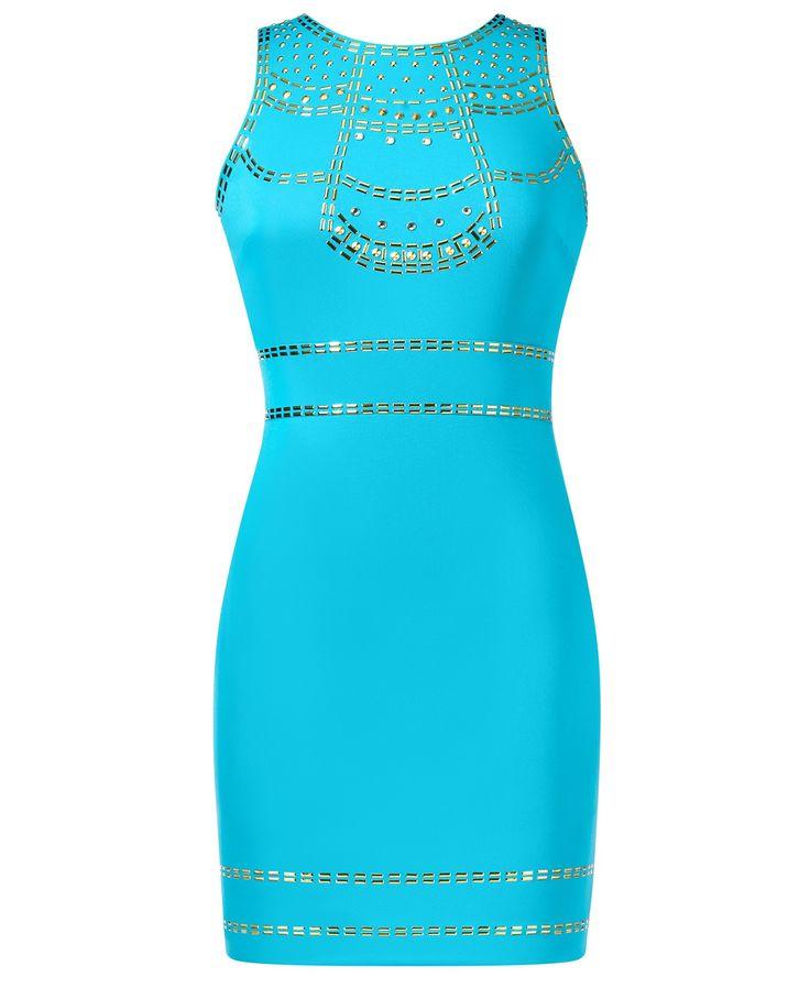 Thalia Sodi Studded Scuba Sheath Dress – Thalia Sodi Collection for Macy's