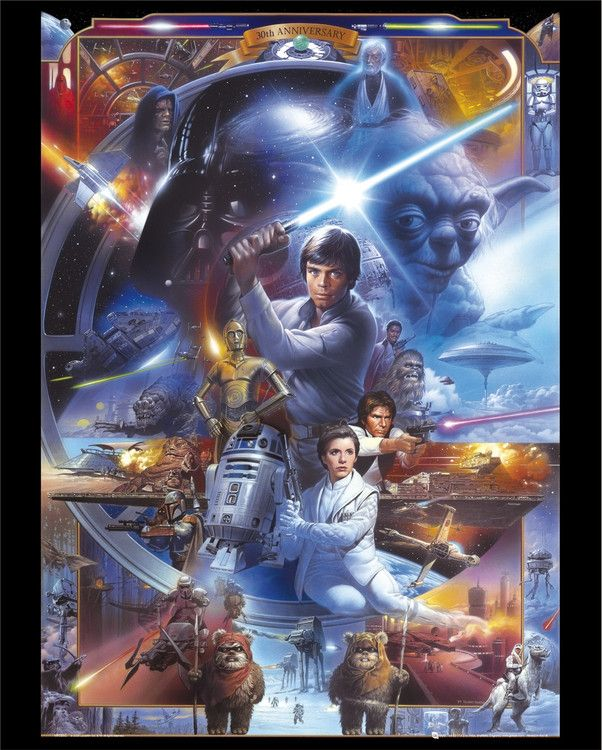 STAR WARS - 30th Anniversary - Europosters: Star Wars Movie, Star Wars Poster, Stars, Art, Saga Collage, Movies, Movie Poster, Starwars