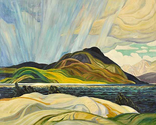 Franklin Carmichael, Lake Wabagishik. (600×483) Born: May 4, 1890 Orillia, Ontario, Canada. Died: October 24, 1945 (aged 55) Toronto, Ontario, Canada.