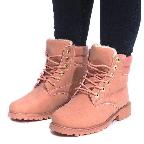 Ocieplane Timberki Trapery Ks 17 Rozowy Rozowe Trunks Trekking Shoes Pink