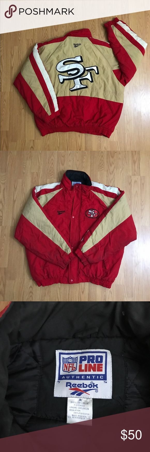 Vintage Reebok 49ers Jacket This thing is insane. Super clean all around, and dope embroidering on the back. Fits L- XL Reebok Jackets & Coats Bomber & Varsity