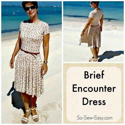 Looking for a modest knit dress? This could be what you are looking for. High neckline, sleeves and a full circle skirt. So Sew Easy