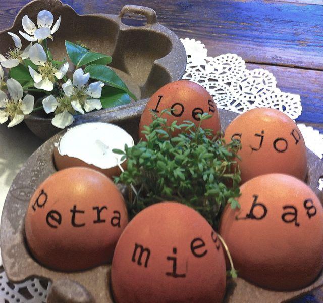 eieren versieren met stempels | DIY pasen