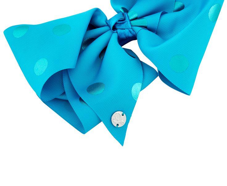 Jojo Siwa Girls' Large Polka Dot Bow - Blue