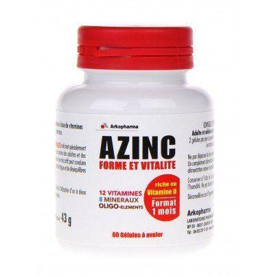 Arkopharma Azinc Forme et Vitalité: Les vitamines et minéraux ne peuvent être synthétisés par l'organisme et sont présents en petites…