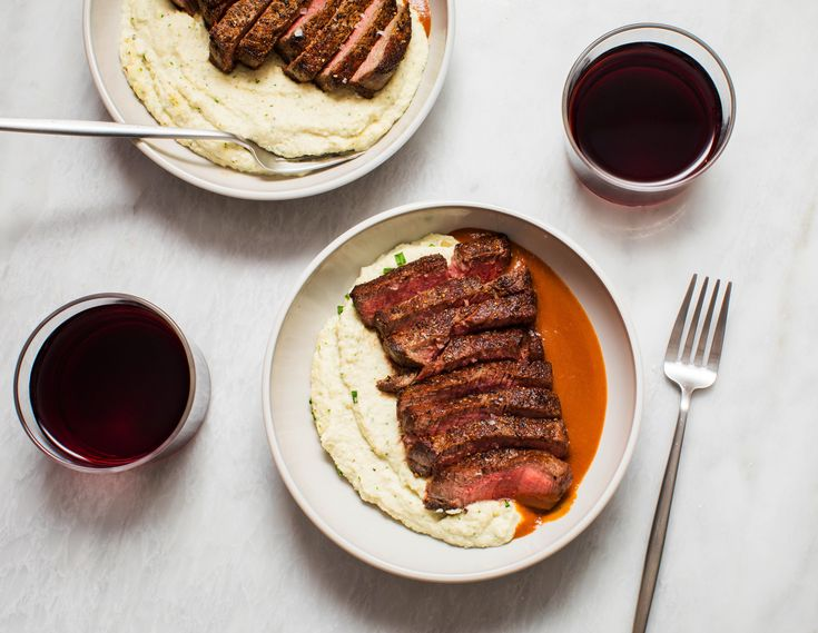 I'm visiting some classic sauces and decided to try out the espagnole sauce tonight. Served with Smoked Ricotta Cheese Mashed Cauliflower and Seared Filet Mignon. Recipe in the comments! [OC] [5788  4480]