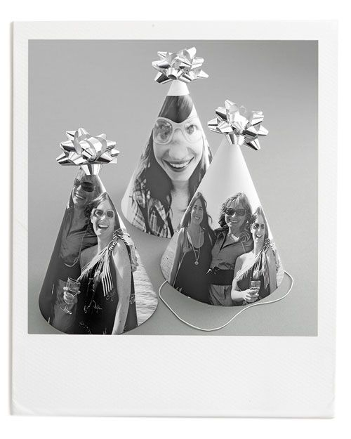 Photo Birthday Party Hats~*!! Every Picture Tells a Story. I'm totally making these for my (eek!) 30th♐ birthday party guests this year...シ {diy template} I adore the silly bows on top!
