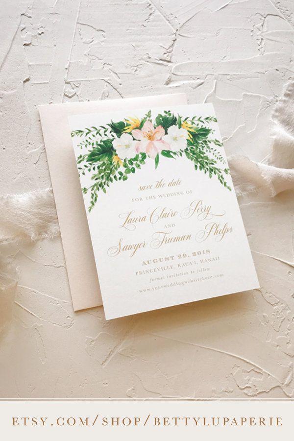 Destination Wedding Invitation Hawaii