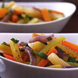 Gestoofde wortel, bleekselderij en venkel @ allrecipes.nl