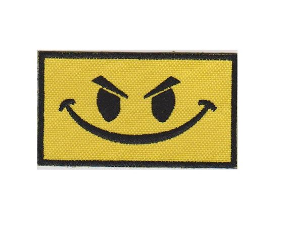 Angry Smiley Face  Morale Patch  by BullShoalsEmbroidery on Etsy