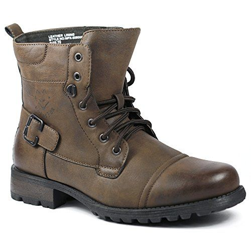 Polar Fox MPX-508006 Chocolate Brown Mens Military Combat Work Desert Ankle Boot w/ Leather Lining (9)