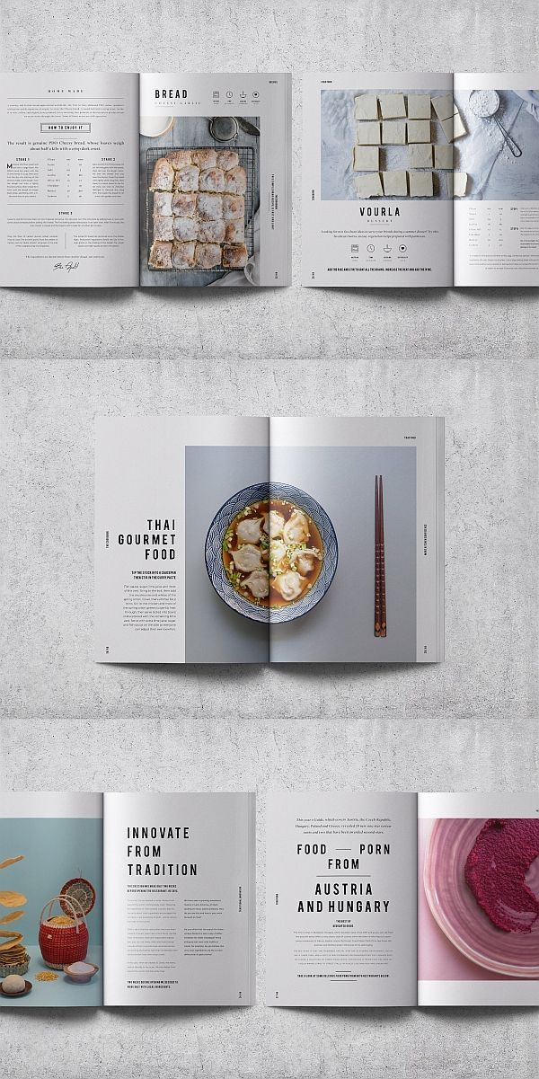 Cookbook Recipe Book Indesign Template Cookbook