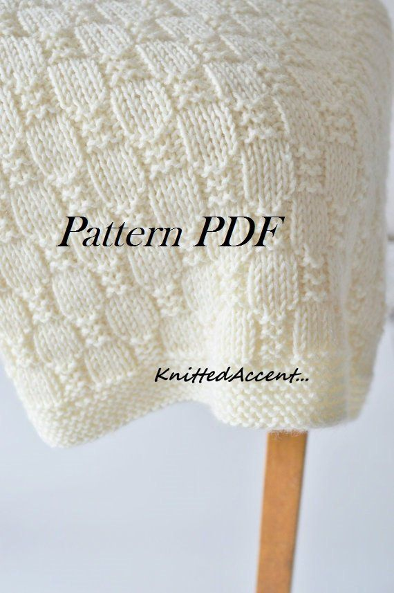Easy Blanket PATTERN, Knit Baby Pattern, Knitting Pattern, Blanket ...