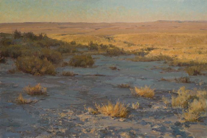 "Clyde Aspevig | ""Prairie Shadows""  Seriously!  How does he make such a spectacular painting out of such a drab scene?"