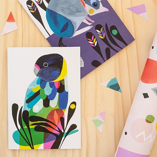 Into The Wild range designed by @inaluxe for Earth Greetings AW2016 #recycled #earthfriendlygreetingcards #australianmadegreetingcards #ecofriendlycards #inaluxe #wrappingpaper #bird