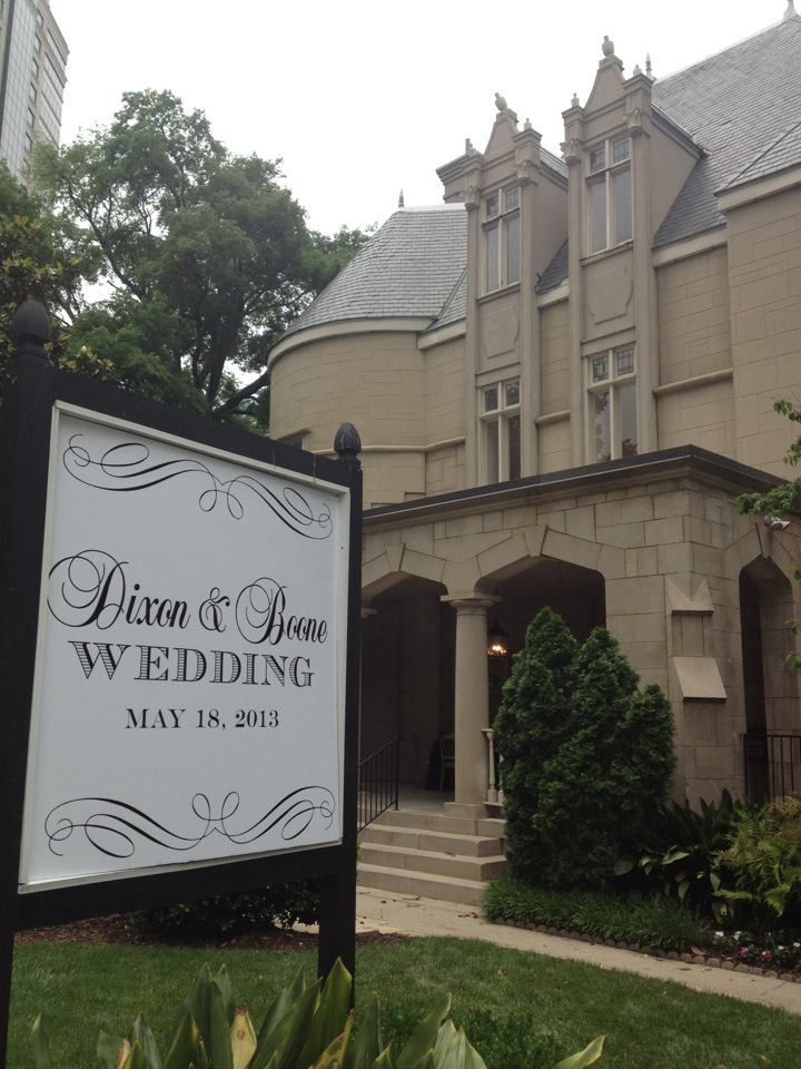 wedding venues on budget in atlanta%0A Our Wedding sign in front of the Wimbish House