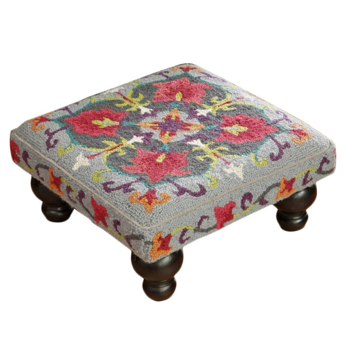 ...Suzani Hook Footstool...