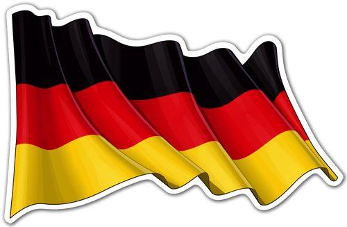 Pegatinas: Bandera de Alemania ondeando #bandera #pegatina #TeleAdhesivo