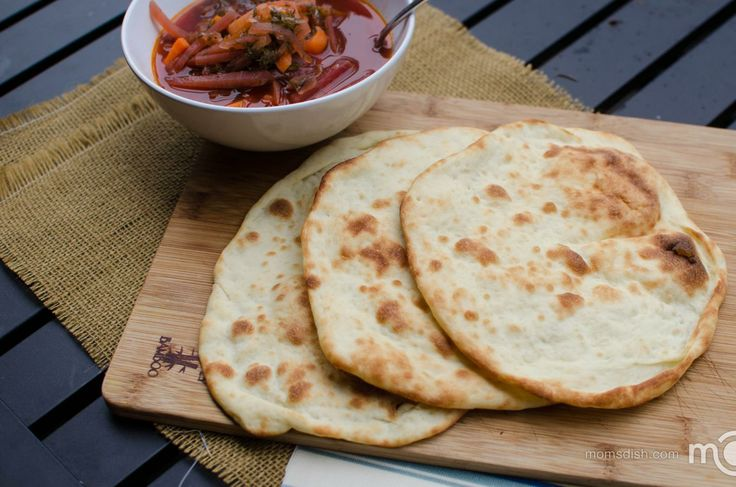 Perfect naan bread with step by step photo instructions